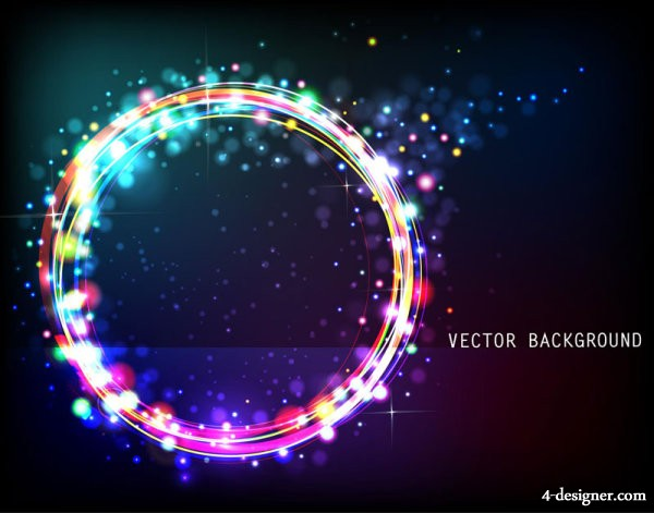 The starry gorgeous background 05   vector material