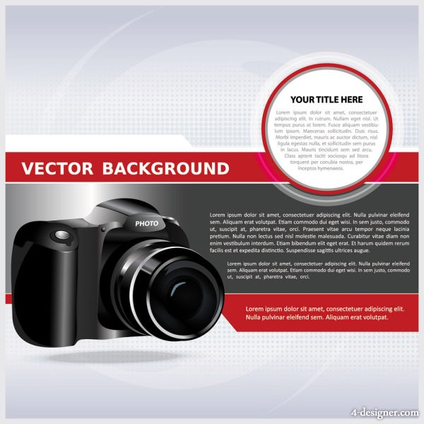 Trend cameras Background 04   vector material