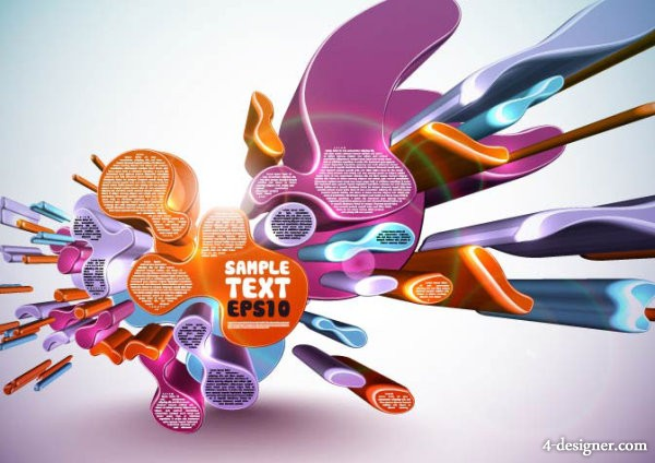 Various forms of vector background 04   vector material