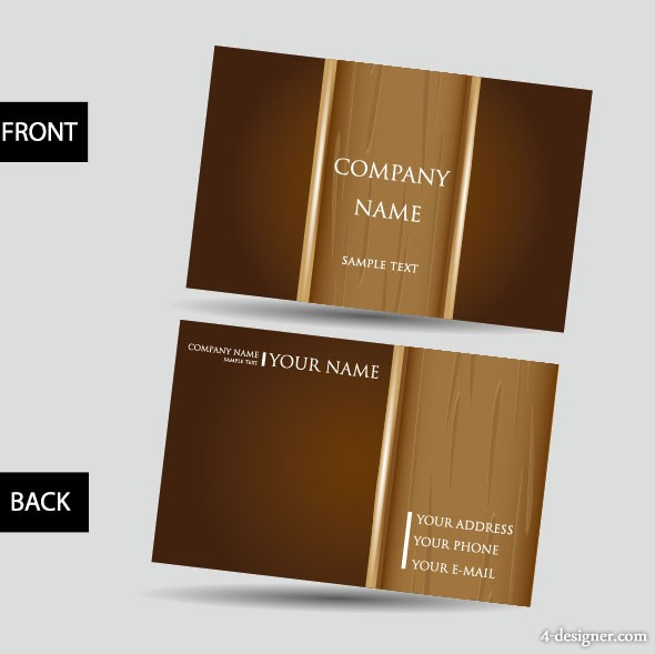Vector business card template 02 vector material