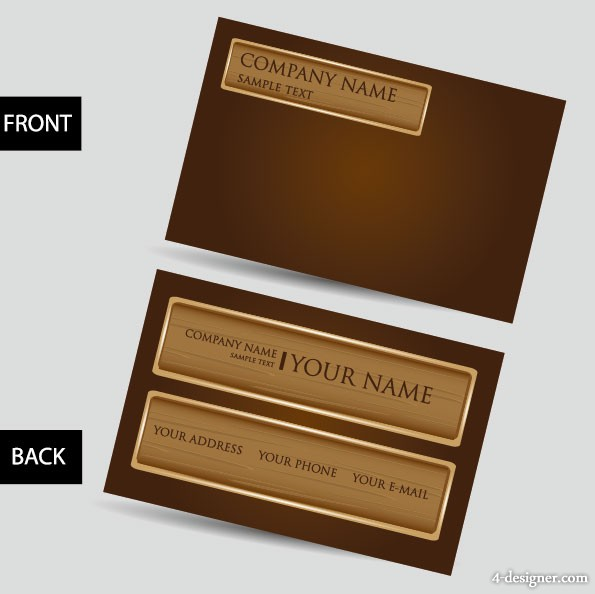 Vector business card template 04 vector material