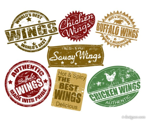 Vector food labeling 03   vector material