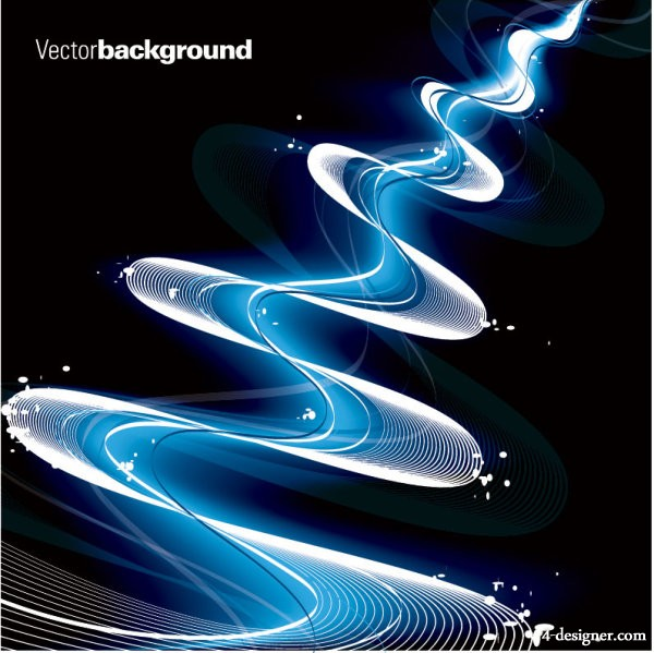 Vector material gorgeous dynamic flow line 04   vector material