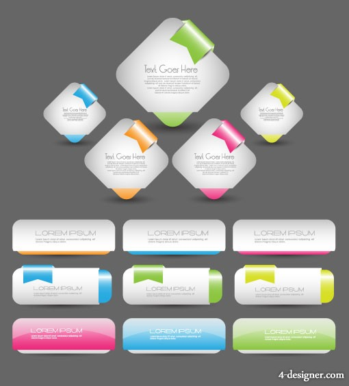 Web page packages angle design 04   vector material