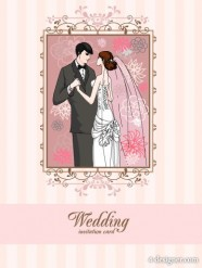 Wedding card background 04   vector material