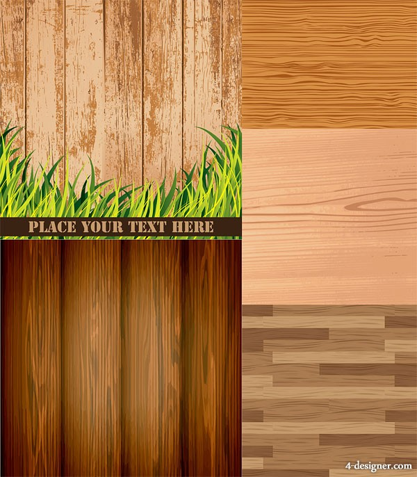 Wood woodgrain Background vector material