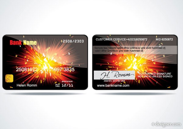 VIP card background vector material  2