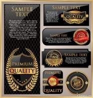 classic Blonde labels 01   vector material