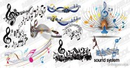 10 models of practical musical elements vector material