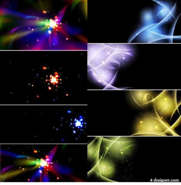 2 group of colorful light effect background material
