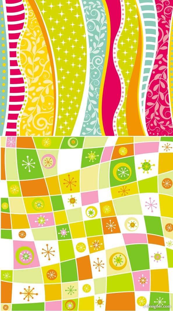 2 models cute background vector material