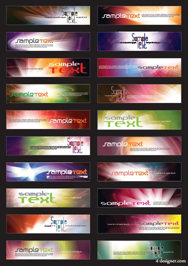 20 web banner template vector material