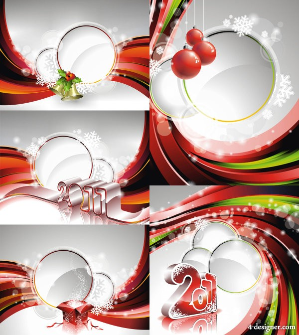 2011 New Year background image vector material