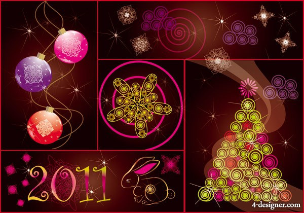 2011 festive background Vector material