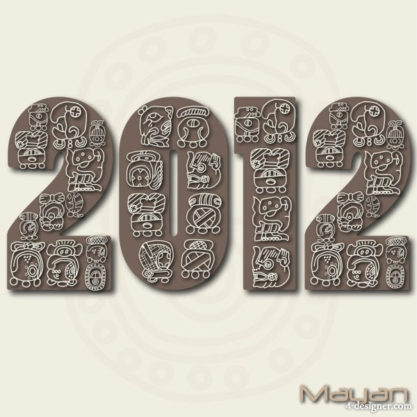 2012 text style vector material Vector