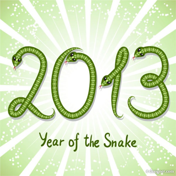 2013 Year of the Snake creative graphic 03 vector material