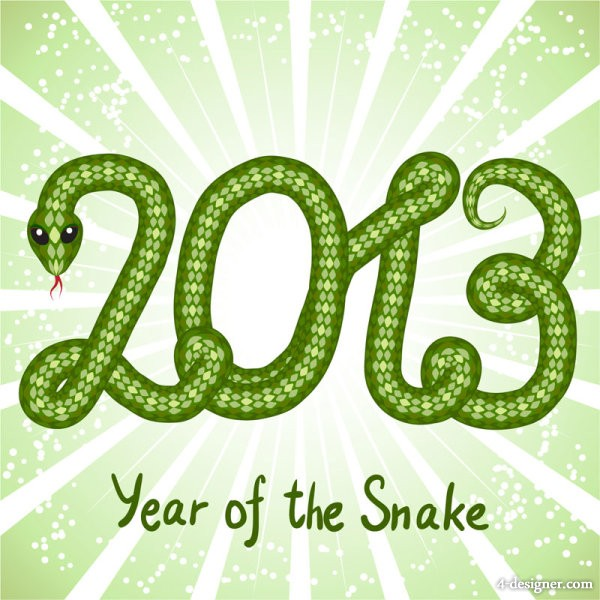 2013 Year of the Snake creative graphic 04 vector material