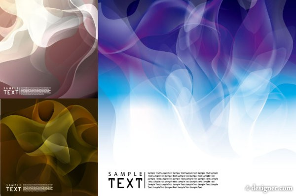 3 models smoke background vector material