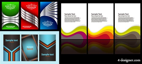 3 sets of card template vector material