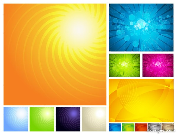 3 units Symphony background vector material