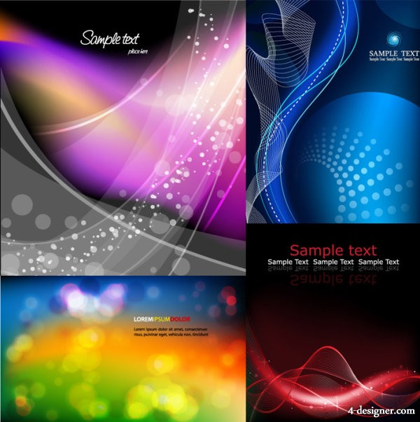 4 models dreamy background vector material