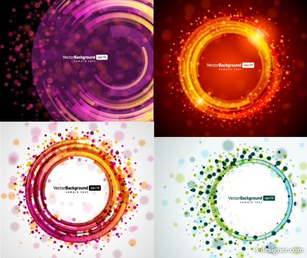 4 round light background vector material