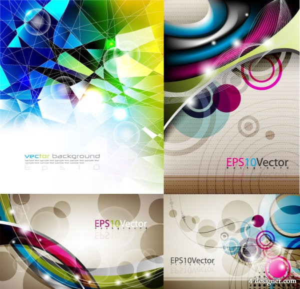 4 under the glare background vector material
