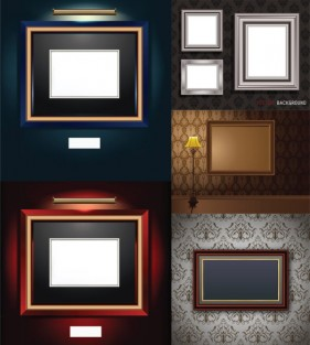 A beautifully realistic picture frames vector material