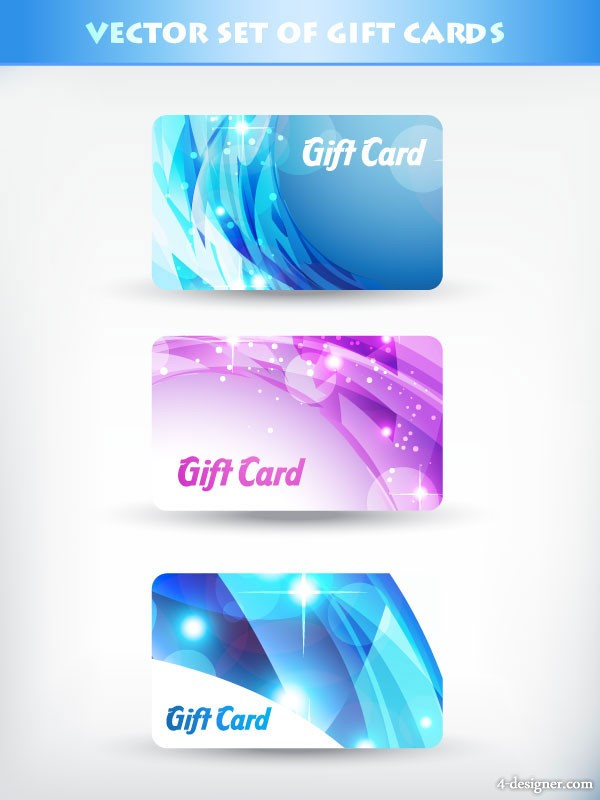 A brilliant gift card template vector material 04 vector material