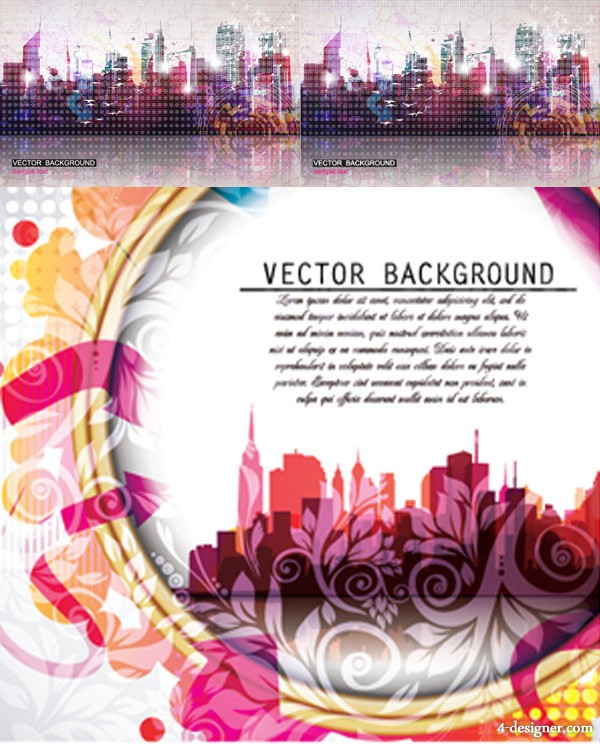 A brilliant urban background Charts Vector