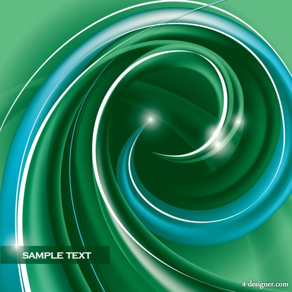 Abstract dynamic spiral patterns 05 vector material