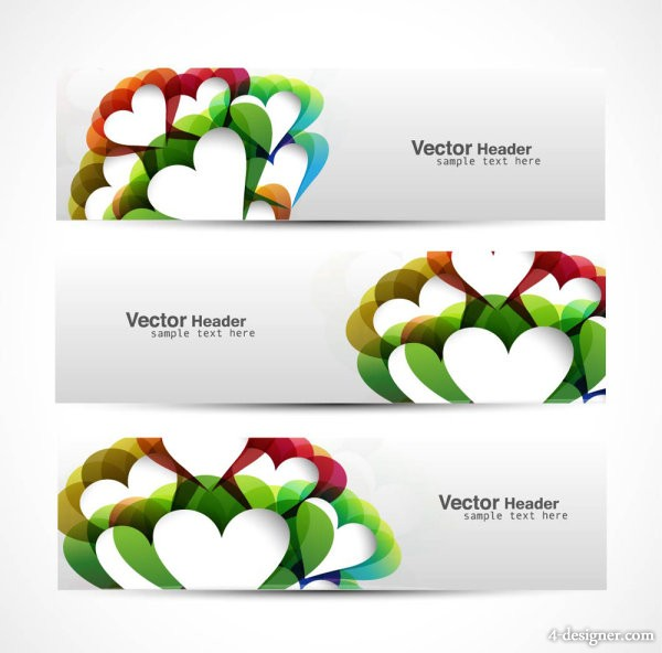 Abstract modern graphics banner03 Vector