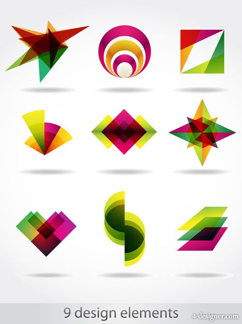 Abstract symbol graphics 04 vector material