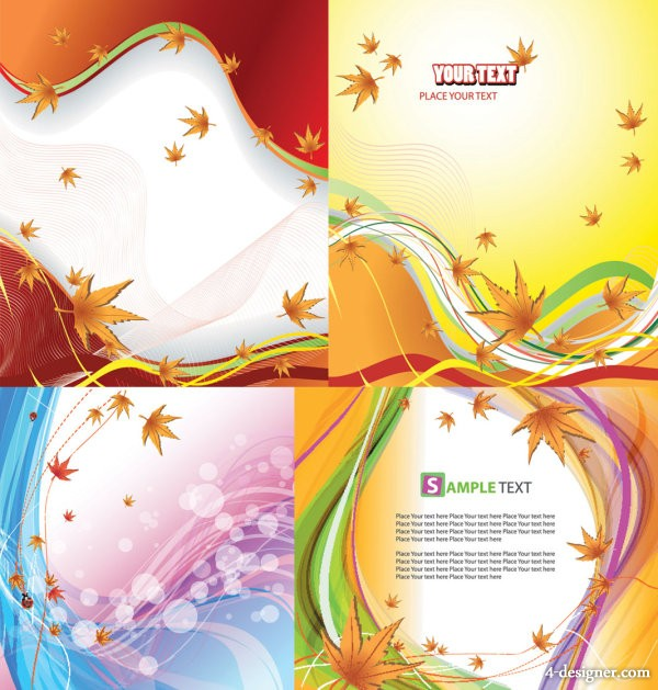 Autumn background vector material