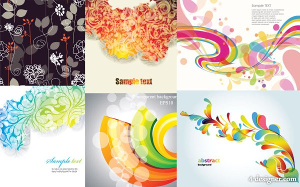 Background vector material fashion 6