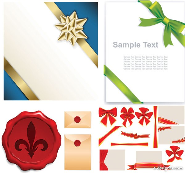 Banner background and envelope vector material