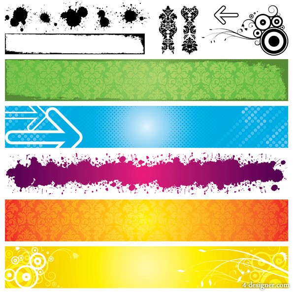 Banner backgrounds vector material