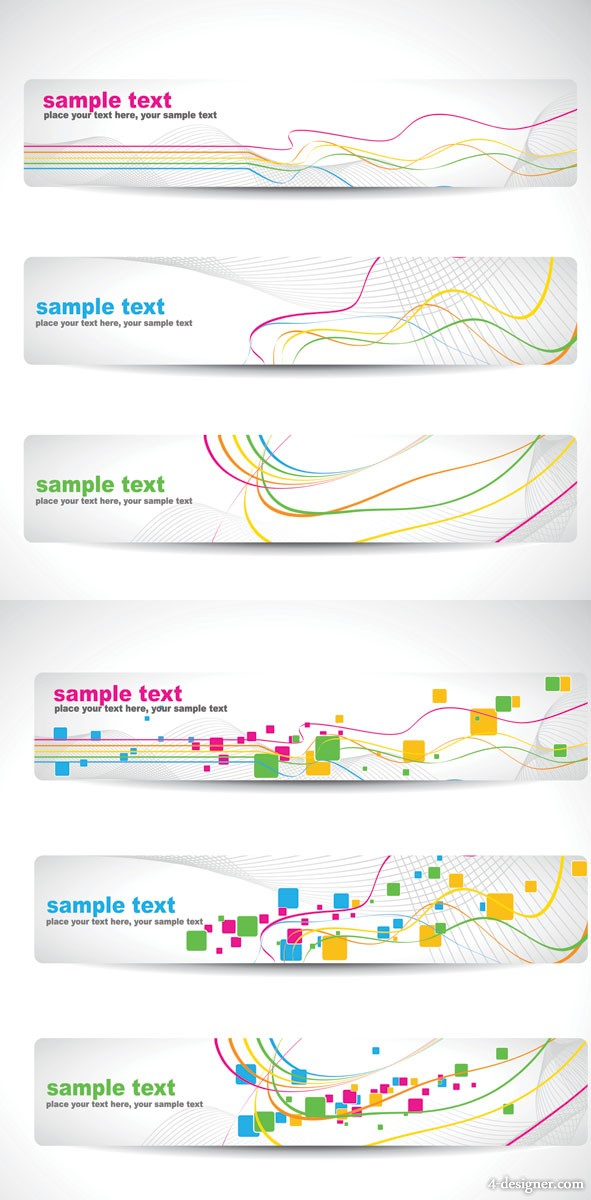 Banner banner dynamic lines background vector material