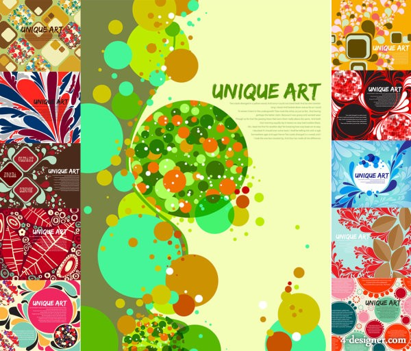 Beautiful background of the multi element vector material Vector