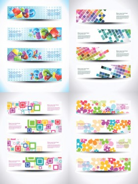 Beautiful beautiful the effects patterns banners Vector