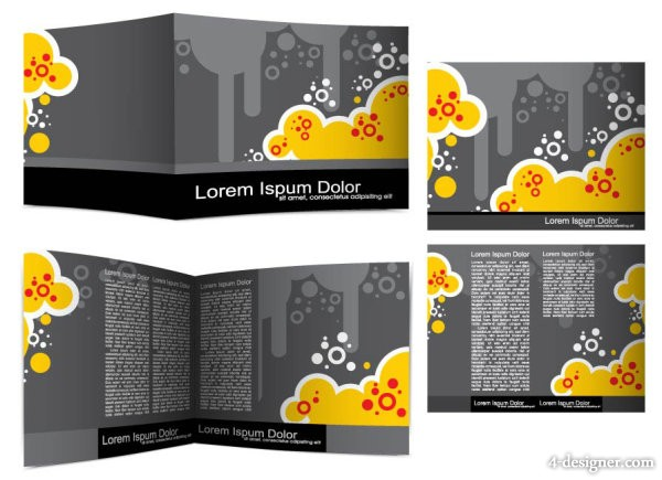 Beautiful brochures and flyers 02 vector material