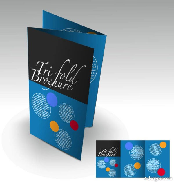 Beautiful brochures and flyers 03 vector material