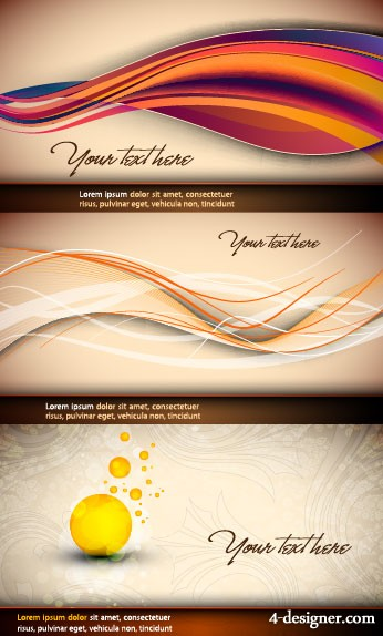 Beautiful curves background vector material