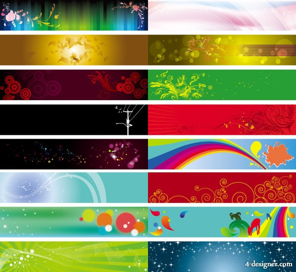 Beautiful pattern background banner vector material