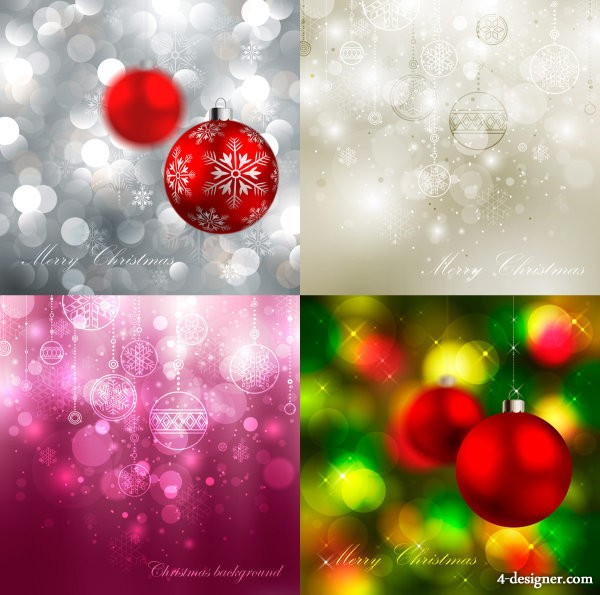 Beautiful the exquisite Christmas ball background Vector