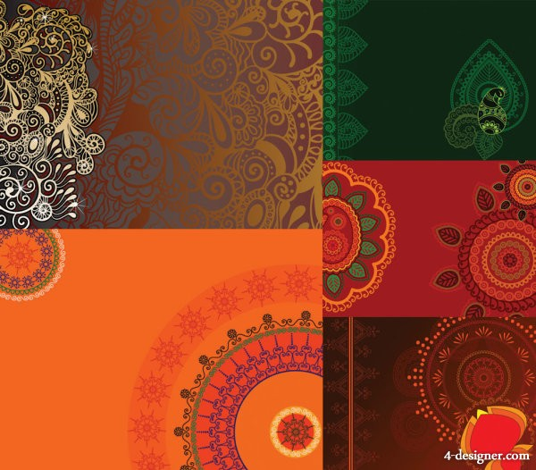 Beautifully exquisite pattern background Vector
