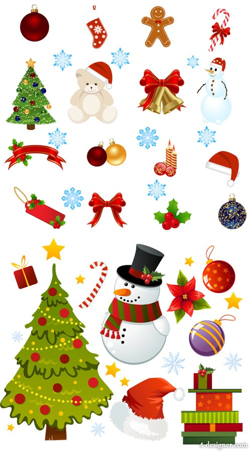 Beautifully exquisite the Cartoon Christmas ornaments Vector