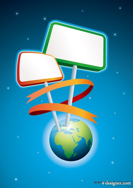 Billboard vector material inserted on Earth