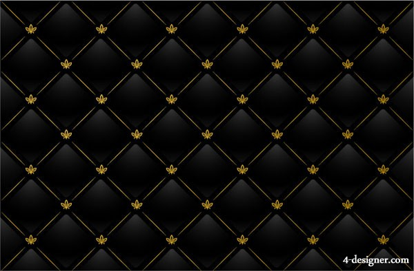 Black plaid pattern tiled background vector material