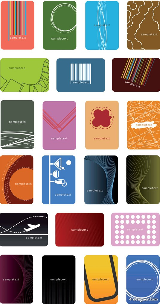 Both minimalist trend Card Vector